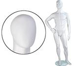 Male Mannequin: Right Hand on Hip, Leg Forward, Oval Head