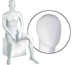 Male Mannequin: Seated, Oval Head