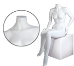 Female Mannequin: Seated, Hand on Knee, Headless