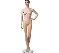 Sandy Female Mannequin: Size 4, Leg Back, Fleshtone