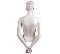 Female Mannequin Arms: Hands Behind Back - White