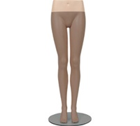 Hip Blocks FOR Female Mannequin Legs - Fleshtone
