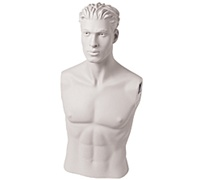Armless Male Mannequin: Size 40 - White