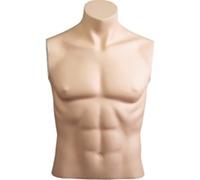 Armless Male Mannequin: Headless, Size 40 - Fleshtone