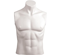 Armless Male Mannequin: Headless, Size 40 - White