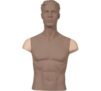 Set of Shoulder Caps FOR Armless Male Mannequins - Fleshtone