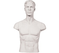 Set of Shoulder Caps FOR Armless Male Mannequins - White