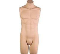Headless & Armless 3/4 Torso Male Mannequin - Fleshtone